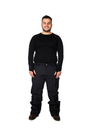 Aggression Castro Adjuster Tab Plus Size Pant Black 2XL-10XL Front