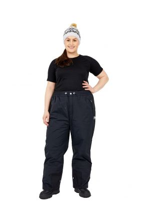 Aggression Castro Queen Plus Size Snow Pant Black 6XL-10XL Front