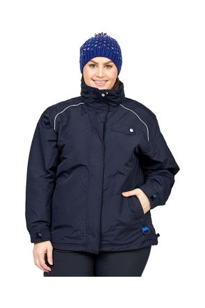 Aggress Vermont Womens plus Size Ski Jacket Black Front
