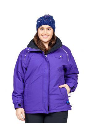 Aggress Vermont Womens plus Size Snow Jacket Purple Front