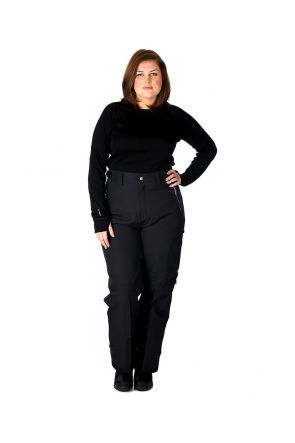 Aggression Castro Adjuster Tab Womens Plus Size Pant Black 2XL-10XL Front