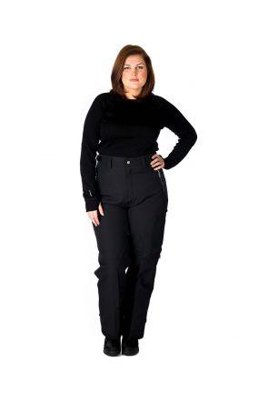 AGGRESSION CASTRO ADJUSTER TAB WOMENS PLUS SIZE PANT BLACK 2XL-10XL Front
