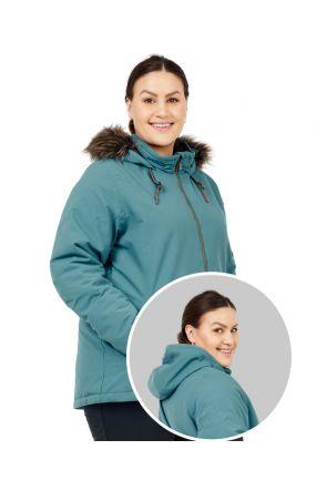 Boulder Gear Halo Womens Plus Size Ski Jacket Blue Haze Sizes 2XL-4XL front