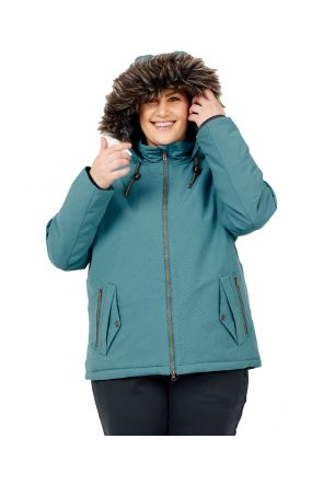 Boulder Gear Halo Womens Plus Size Ski Jacket Blue Haze Sizes 2XL-4XL front
