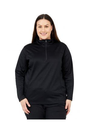 BOULDER GEAR WOMEN'S NOLA FLEECE 1/4 ZIP JACKET BLACK Sizes 2XL-5XL