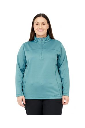 BOULDER GEAR WOMEN'S NOLA FLEECE 1/4 ZIP JACKET BLUE HAZE Sizes 2XL-5XL Front