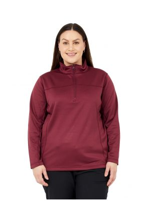 BOULDER GEAR WOMEN'S NOLA FLEECE 1/4 ZIP JACKET ROSEWOOD Sizes 2XL-5XL