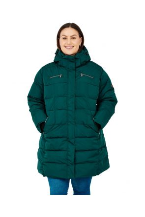 Boulder Gear Norski II Womens Plus Size Long Snow Coat Forest Green Sizes 3XL-5XL front