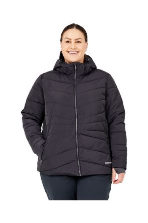 Boulder Gear Plus Size Womens Puffer Jacket Swank Black  Front
