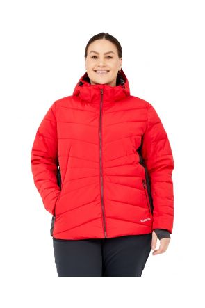 Boulder Gear Swank Womens Plus Size Swank Puffer Jacket Red Sizes 2XL-3XL Front