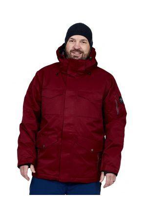Boulder Gear Teton Mens Plus Size Ski Jacket Brick Red Sizes 2XL-5XL front