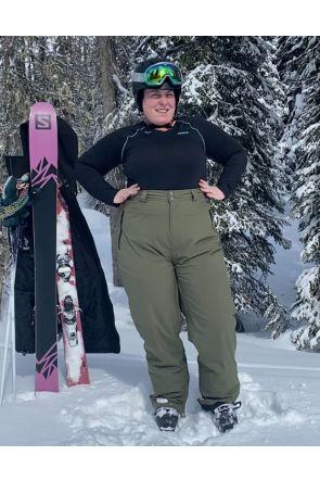 Cartel Arctic Womens Plus Size Snow Army Green Black 3XL-7XL