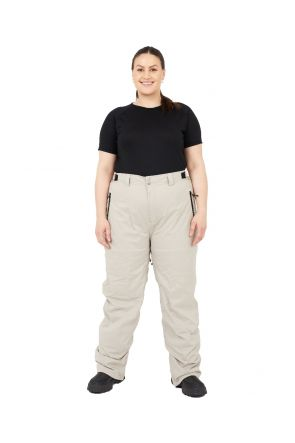 Cartel Arctic Womens Plus Size Snow Pant Beige 4XL-6XL