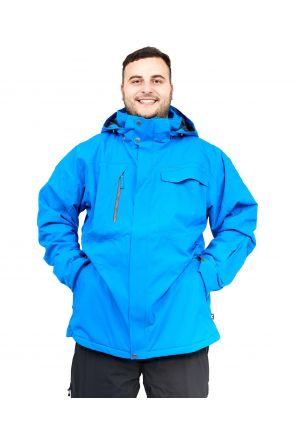 Cartel Baldy Mens Plus Size Ski Jacket Blue Stretch 4XL-6XL FRONT
