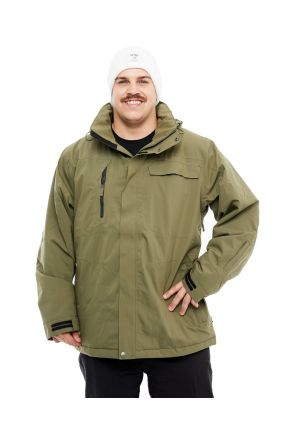Cartel Bankso Mens Plus Size Ski Jacket Army 3XL-9XL