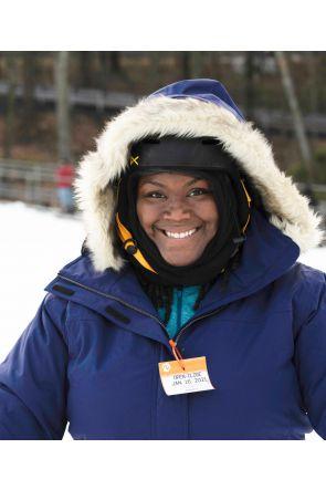 Cartel Brooklyn Womens Plus Size Ski Jacket Stretch Blueberry Navy Lifestyle