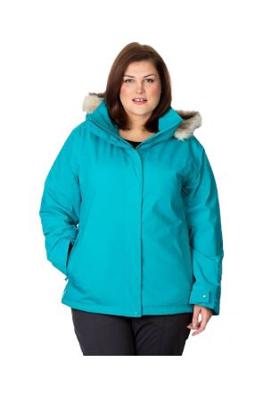 CARTEL BROOKLYN WOMENS PLUS SIZE SKI JACKET STRETCH TROPIC SIZE 18-26
