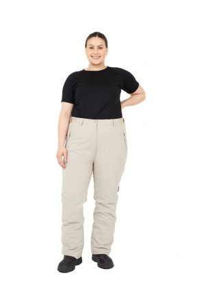 Cartel Canada Womens Plus Size Ski Pants Beige Sizes 20-26