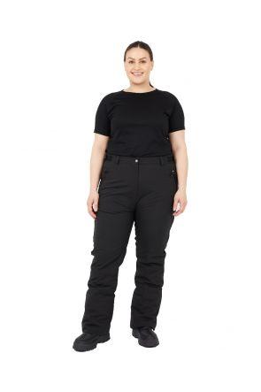 Cartel Canada Womens Plus Size Ski Pants Black 18-30 long leg