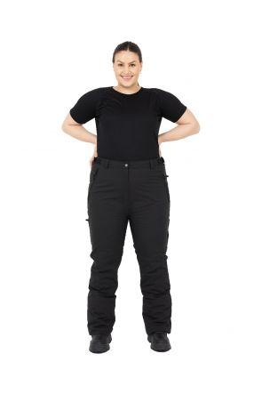 Cartel Canada Womens Plus Size Ski Pants SL Black 18-30 Front