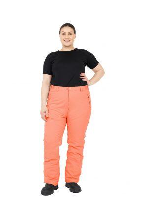 Cartel Canada Womens Plus Size Ski Pants Short Coral 20-24 Front