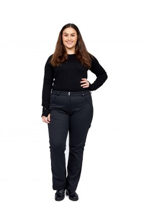 Cartel Hudson Womens Softshell Plus Size Ski Pant Black Front