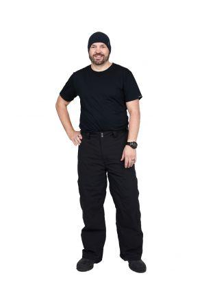 CARTEL KICKER MENS PLUS SIZE SKI PANTS SL BLACK SIZES XL-9XL Front