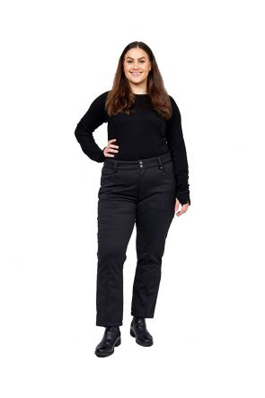 Cartel Manhattan Womens Softshell Plus Size Ski Pant Black Sizes 16-30  Front
