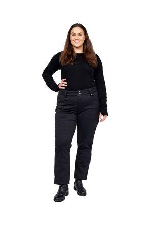 Cartel Manhattan Womens Softshell Plus Size Ski Pant Black Sizes 16-30  Front