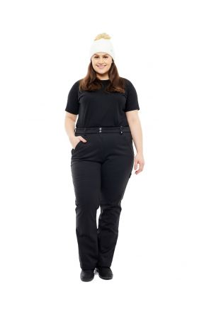 CARTEL PRAGUE WOMENS SOFTSHELL PLUS SIZE SNOW PANT BLACK SIZES 20-30