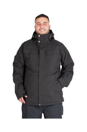 CARTEL SEYMORE MENS PLUS SIZE SKI JACKET BLACK STRETCH 7XL - 9XL