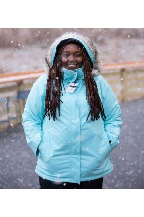 Cartel Soho Womens Plus Size Ski Jacket Mint Heather Front