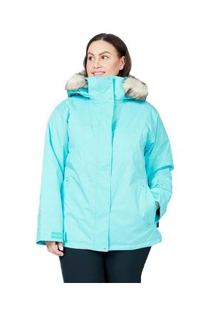 CARTEL SOHO WOMENS PLUS SIZE SKI JACKET MINT HEATHER SIZES 20-26