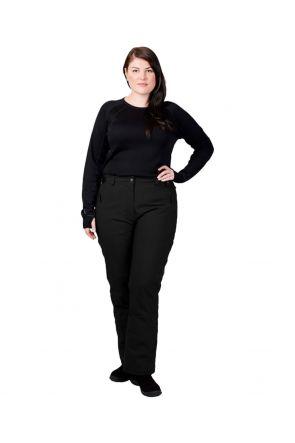 CARTEL WHISTLER WOMENS PLUS SIZE SKI PANTS LONG LEG BLACK SIZES 22-26