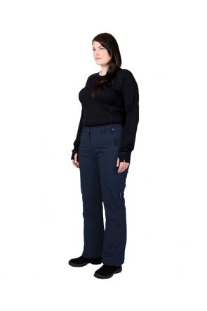 Cartel Whistler Womens Plus Size Ski Pants Navy - Front Profile