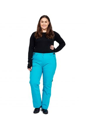 CARTEL WHISTLER WOMENS PLUS SIZE SKI PANTS SL TROPIC FRONT