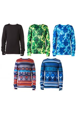 Elude Boys Base-layer Snow Crew Neck Top 2019 All Colours