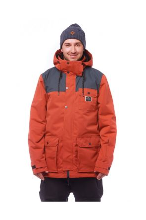 Elude Quinn Mens Snow Jacket Burnt Brick 2019 Front