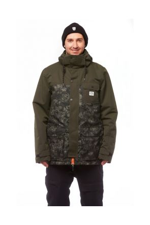 Elude Quinn Mens Snow Jacket Mossman Camo 2019 Front