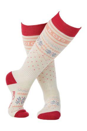 Rojo Flake Out Girls Sock Virtual Pink