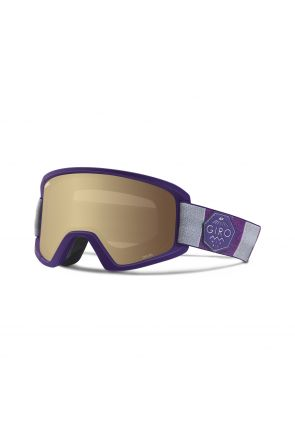Giro Dylan Amber Gold Womens Ski Goggle Purple Mountain Division 2018