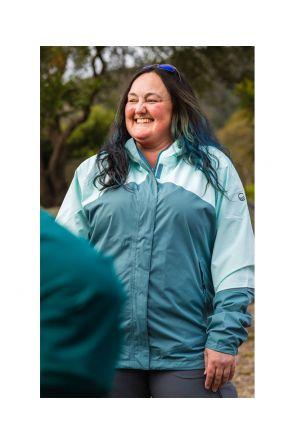Halti Caima W+ Womens Plus Size Rain Shell Jacket Aqua Mint Sizes 18-22 Front