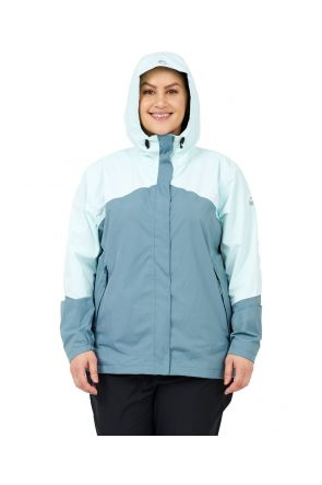 Halti Caima W+ Womens Plus Size Rain Shell Jacket Aqua Mint Sizes 18-22 Front