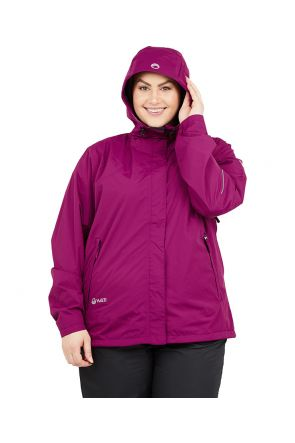 Halti Caima W+ Womens Plus Size Shell Jacket Magenta Sizes 18-24 WITH HOOD up