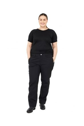 Halti Leisti Recy Womens Plus Size Short Rain Shell Pants Black Size 20-24 Front