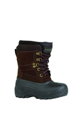 Kamik Nation Junior Kids Apres Snow Boot Dark Brown