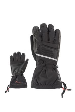 Lenz Heated 4.0 Mens Snow Gloves Black 2019 front