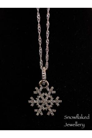 Mary Snowflake Sterling Silver Charm Necklace Womens Jewellery