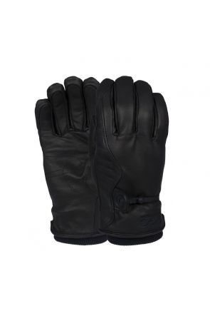 POW HD Unisex Leather Street Glove Black