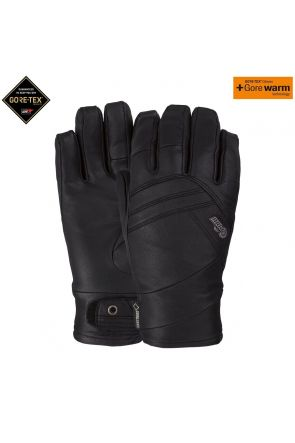 POW Stealth GoreTex Womens Leather Ski Glove Black